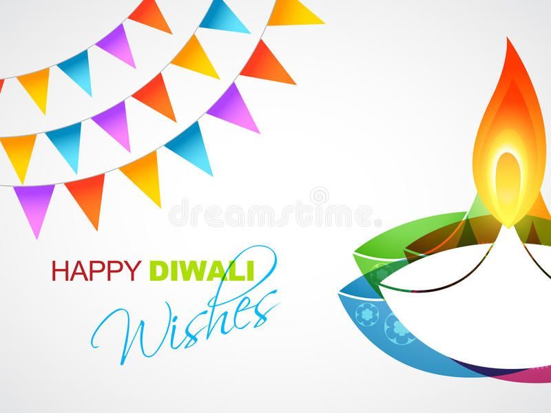 Happy diwali greeting stock vector. Illustration of festival - 34448485