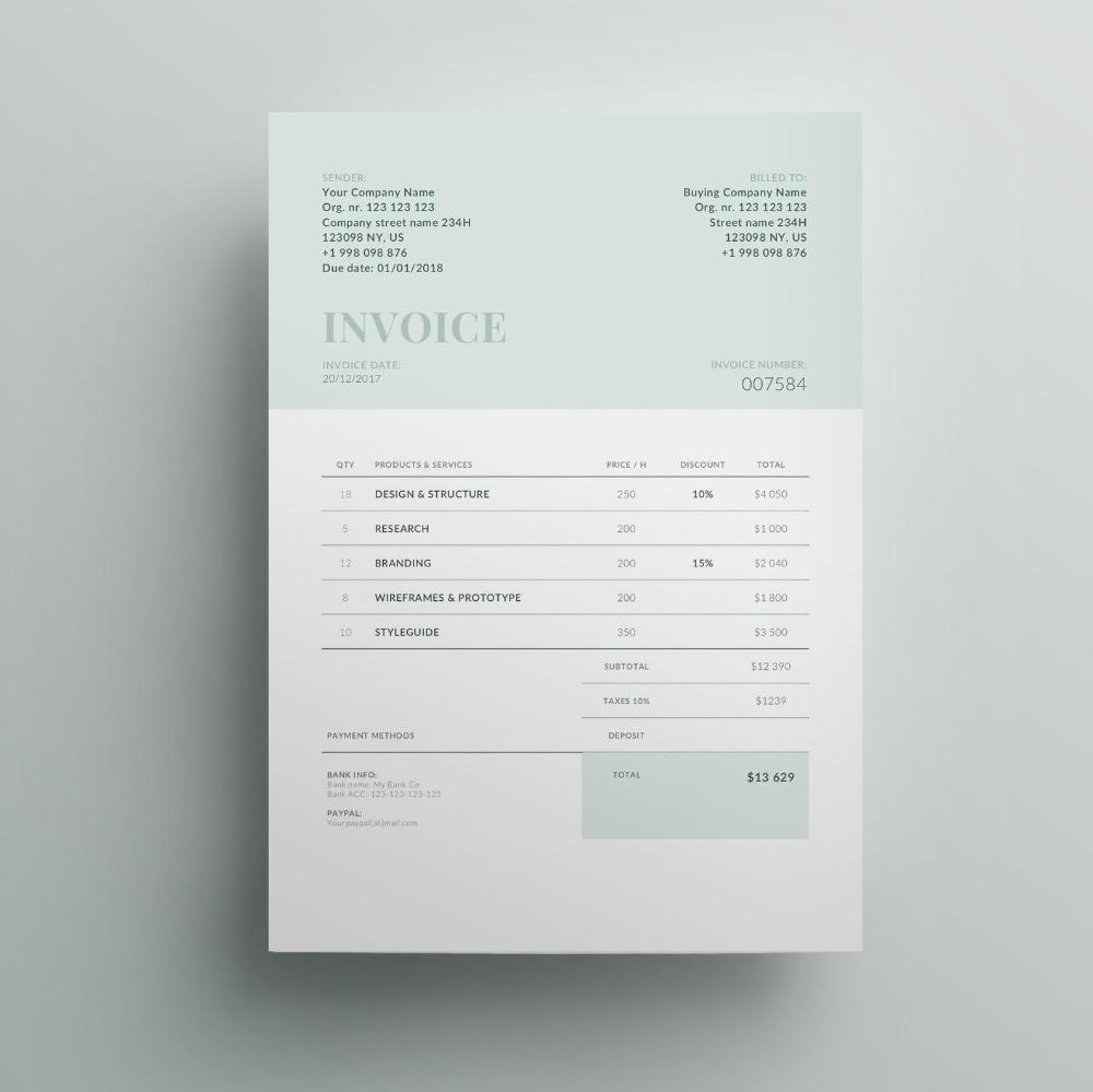 Invoice Template Business Invoice Receipt Template Etsy In 2021 Photography Invoice Template Invoice Design Template Invoice Design
