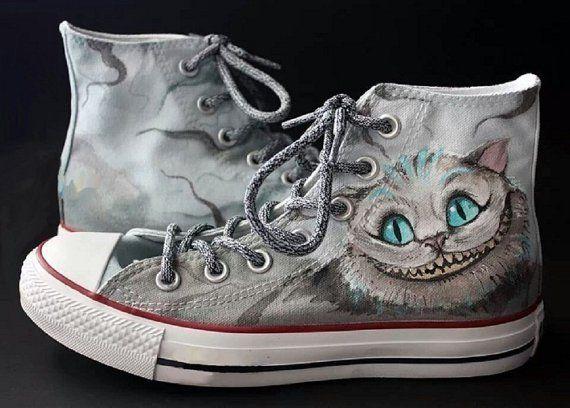 Alice No Pais Das Maravilhas Sapatos Personalizados Sapatos