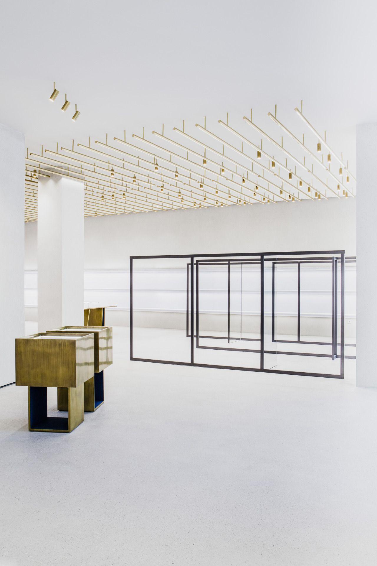 Interior Berlin milan based architect andrea tognon jil sander store in berlin