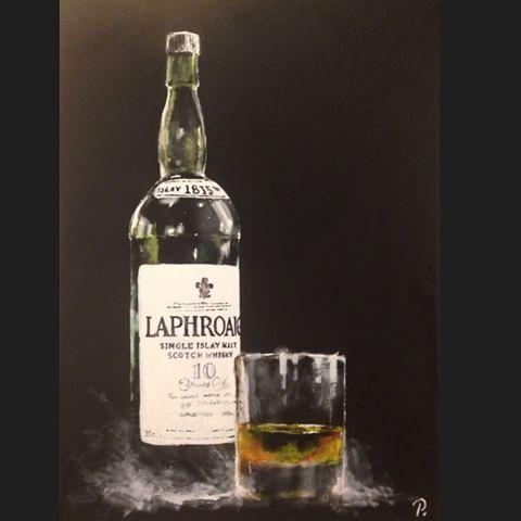 Laphroaig Whisky Bottle Light