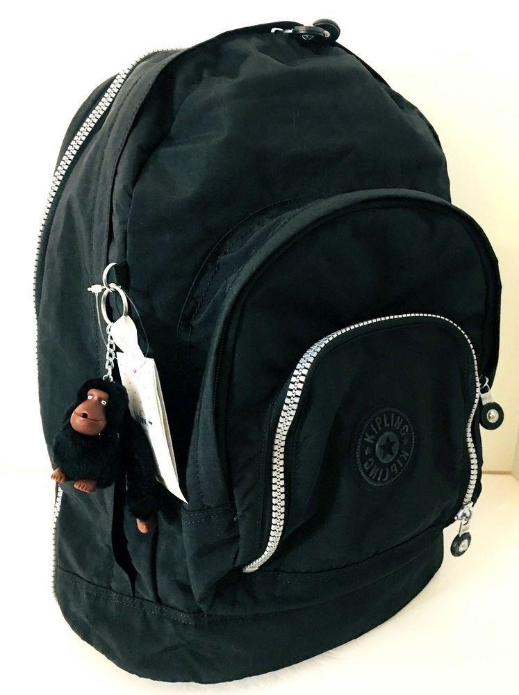 2dcaed93ea67 KIPLING Harper Backpack Bookbag Black Nylon NEW BP4414 Padded Straps  REDUCED! #Kipling #Backpack