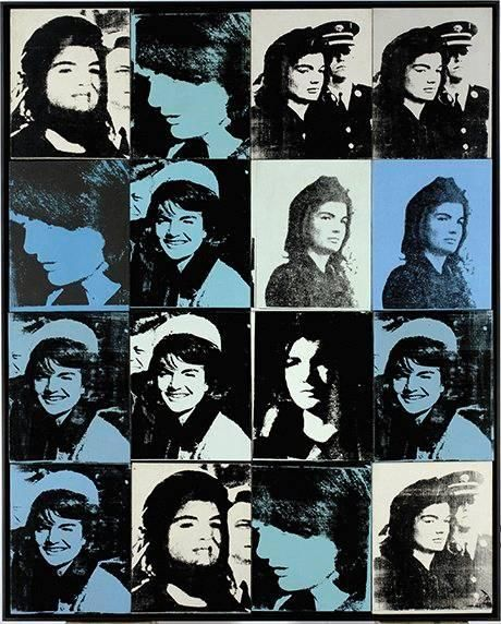 Sixteen Jackie's (variation) by Andy Warhol. Screen Print.