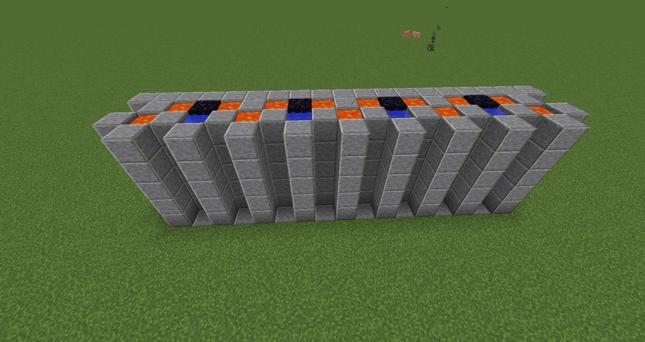 Minecraft Bauideen 2 Sprengschutz Mauer Eine Intelligente