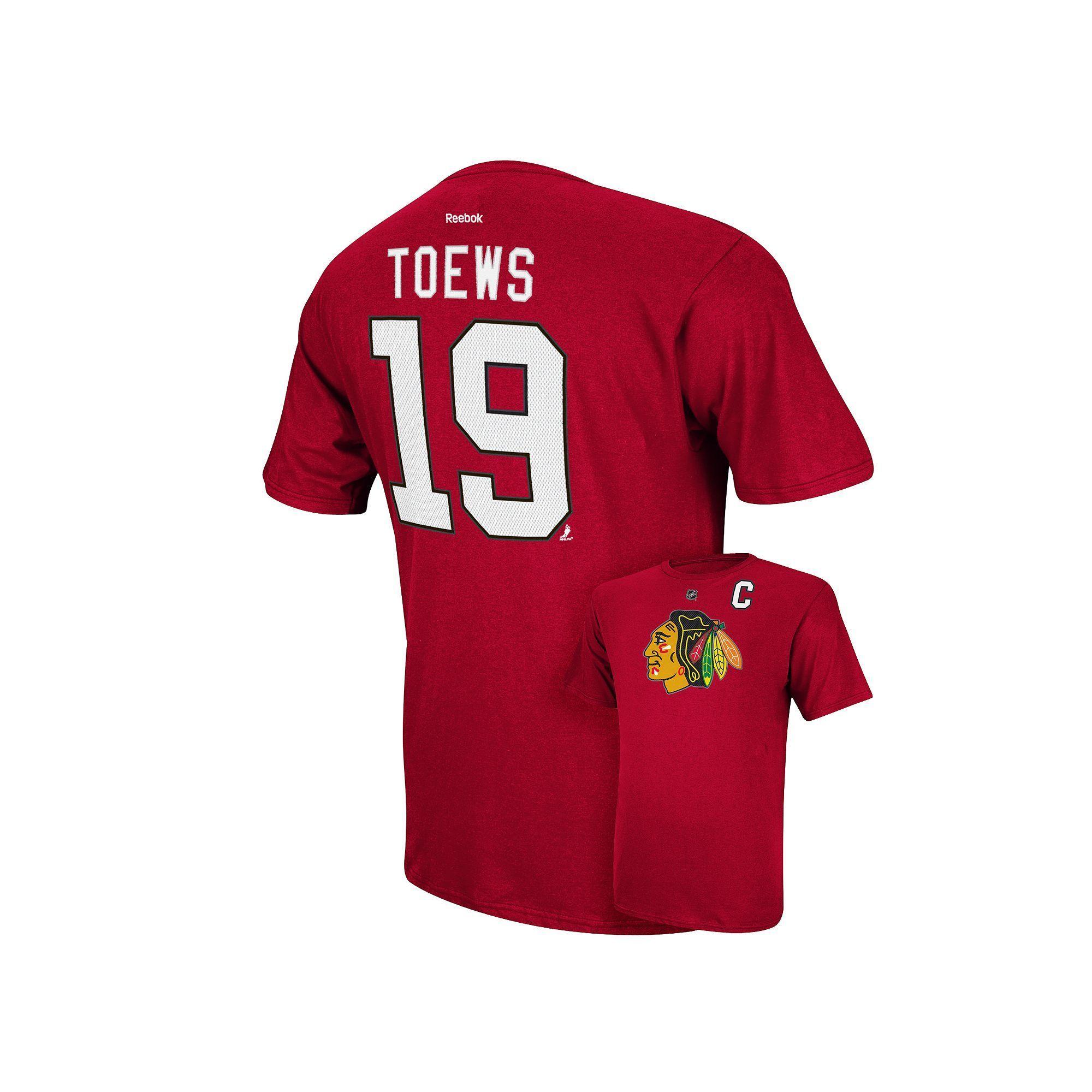 e0a09775b Men s Reebok Chicago Blackhawks Jonathan Toews Player Tee - Men ...