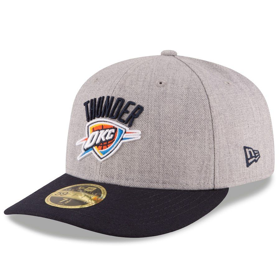 competitive price b79f4 7b28a Men s Oklahoma City Thunder New Era Heathered Gray Black Current Logo  Change Up Low Profile 59FIFTY Fitted Hat, Your Price   34.99