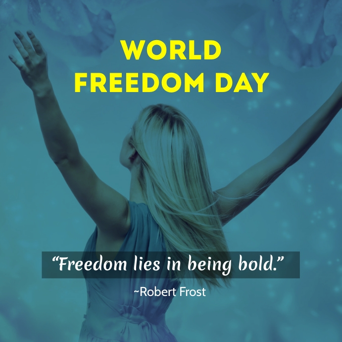 9th November Is Observed As World Freedom Day Design Template Freedom Day Design Template Day