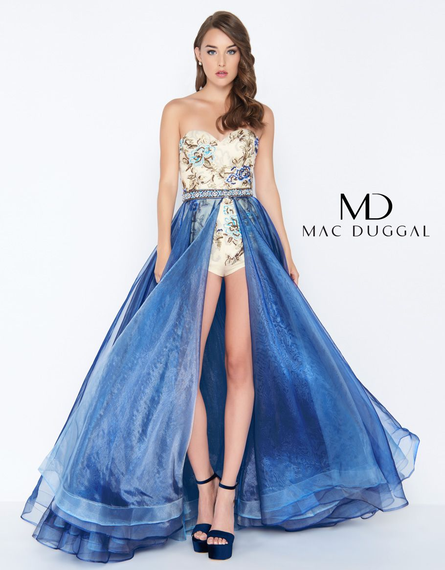 50476a Mac Duggal Romper With Over Skirt Dresses Prom Dress Stores Mac Duggal Prom Dresses [ 1166 x 910 Pixel ]