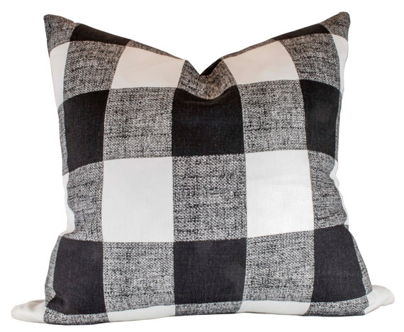 Black Buffalo Check Pillow Cover Premier Prints By