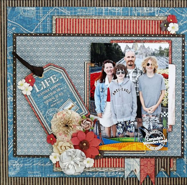 Scraps of Darkness scrapbook kits: Laura Gilhuly created this