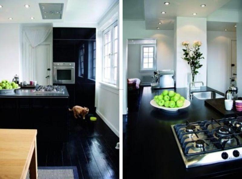 Black Wood Fgloors Black Wood Floor Design Interior Apartment