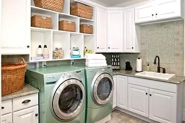 An L Shape Laundry Room Is A Functional Room Layout As It Allows