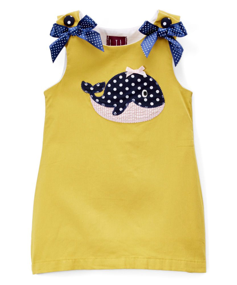 Yellow dress 3-6 months  NEW Lil Cactus Whale Baby Girls Mustard Yellow Sleeveless Shift