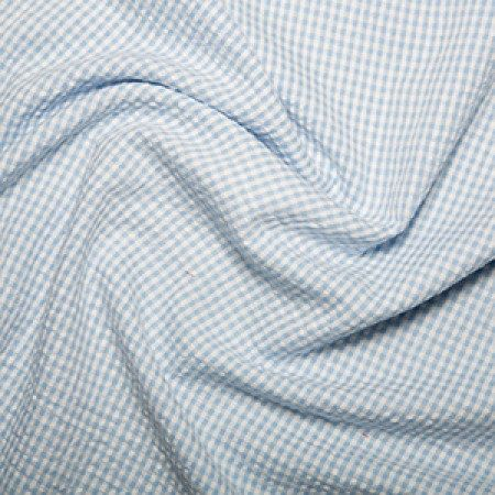 /'Baby Blue /& White/' Gingham 100cm Check Style Cotton Fabric Sewing Material