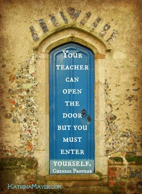 Your Teacher Can Open The Door But You Must Enter Yourself