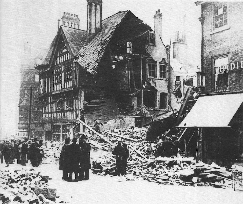 Bomb Damage At The Bottom Of Friar Lane, Nottingham