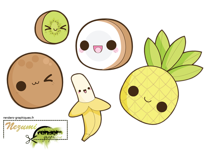 Tropical Cute Fruit Super Kawaii Kawaii Fruit Kawaii