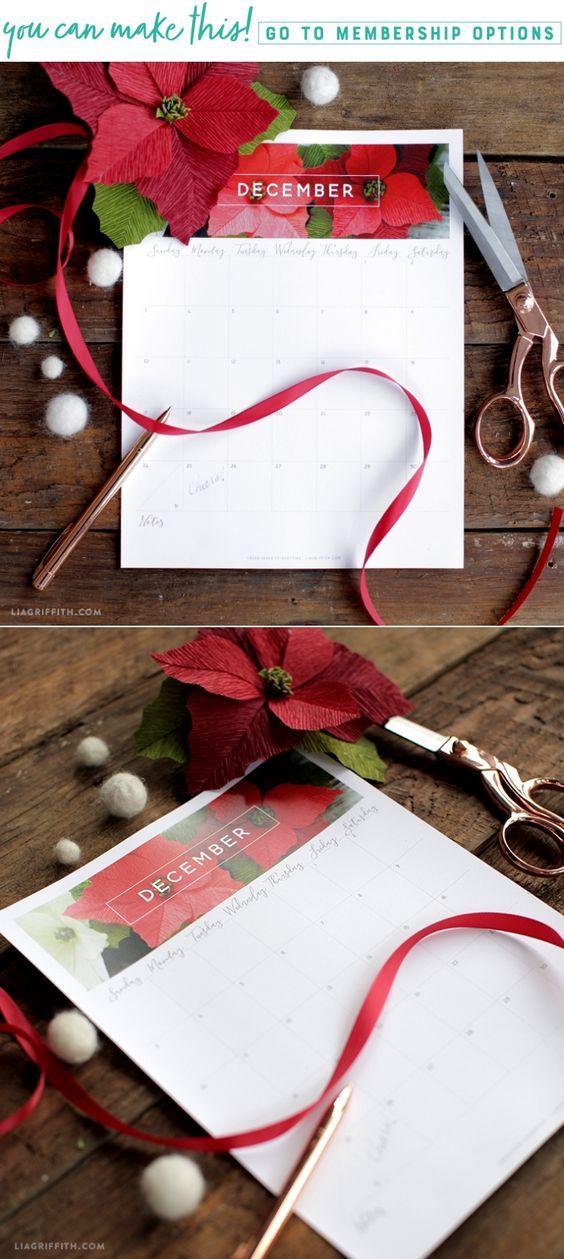 Free December 2017 Calendar December, Free and December calendar
