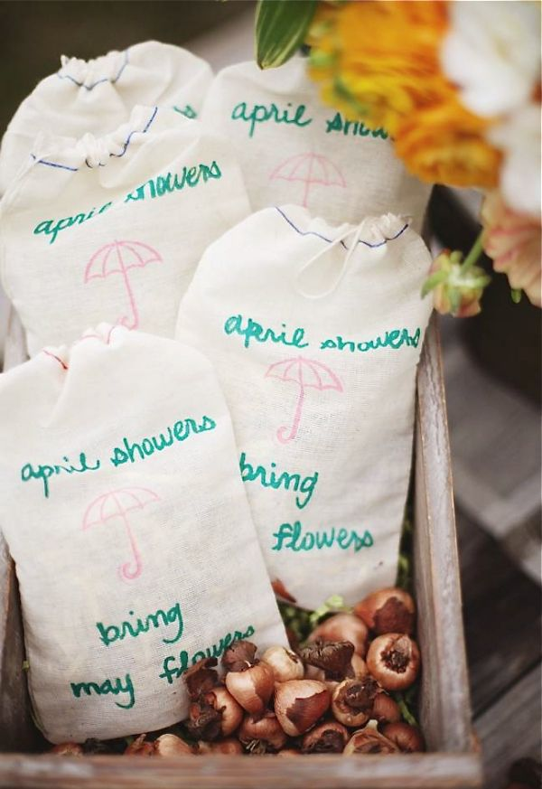 Flowers For Bridal Shower Favors : April showers inspiration shoot flowers wedding party