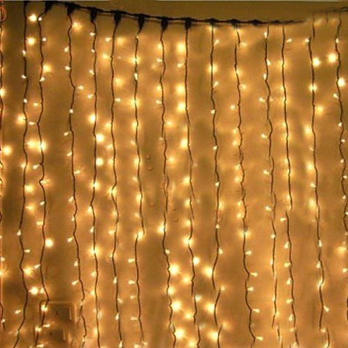 kkgud led guirlande rideau lumineux 3m 3m 300 leds avec la prise fran aise 8 modes flash blanc. Black Bedroom Furniture Sets. Home Design Ideas
