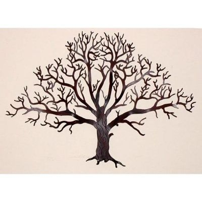 Oak Tree Wall Hanging-15 inch - Courtyard Art To use as monogram on ...