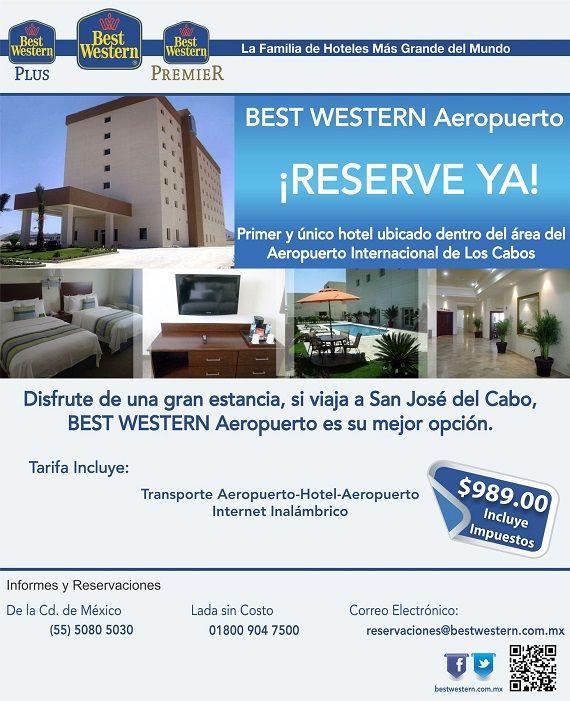 Hospédate en San José del Cabo con una tarifa especial de $989, incluye transporte aeropuerto-hotel-aeropuerto