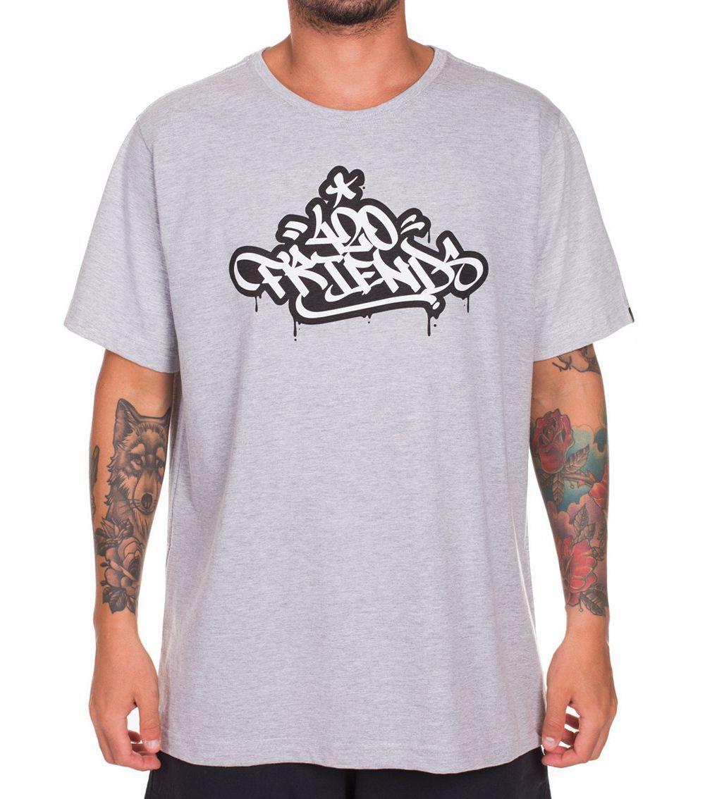 Camiseta 420 Friends Graffiti Tag - Mescla   Kanui