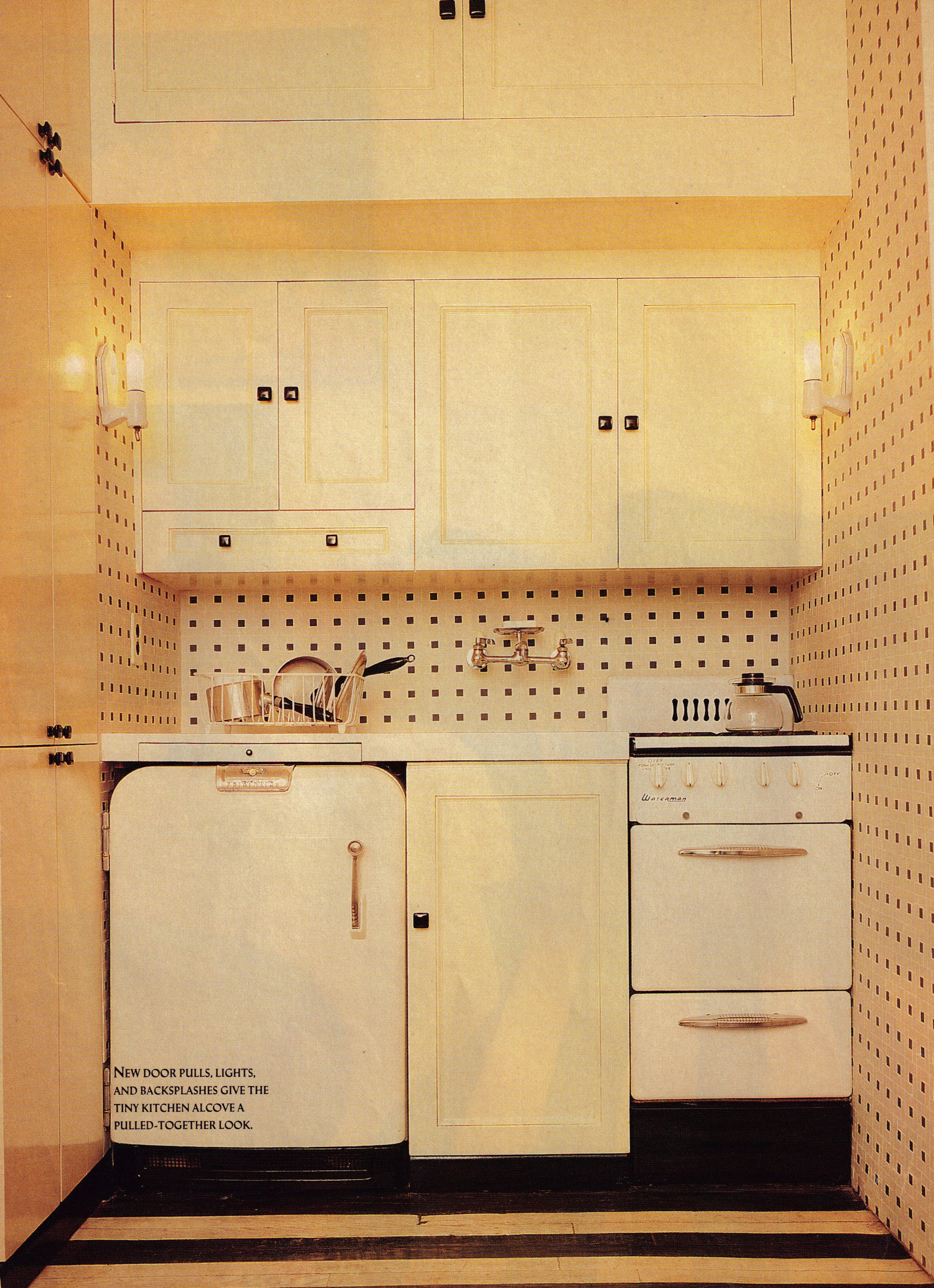 Kitchen Alcove A Tiny New York City Apartment Kitchen Alcove Simply Updated With