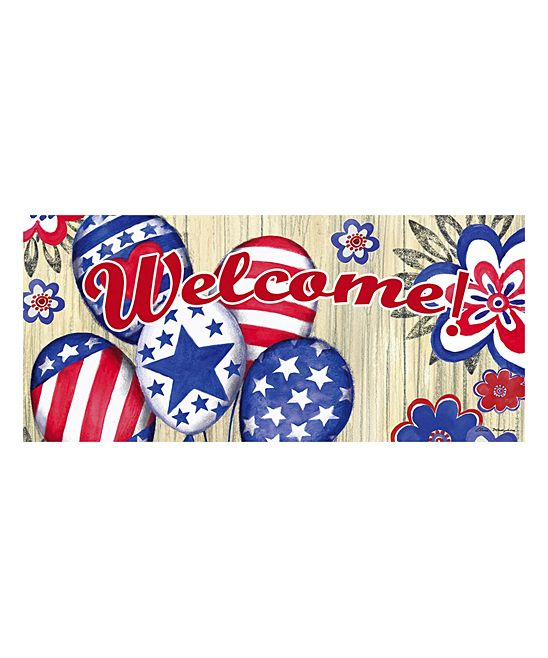 Patriotic Balloons Welcome Switch Doormat Patriotic Welcome Mats Balloons