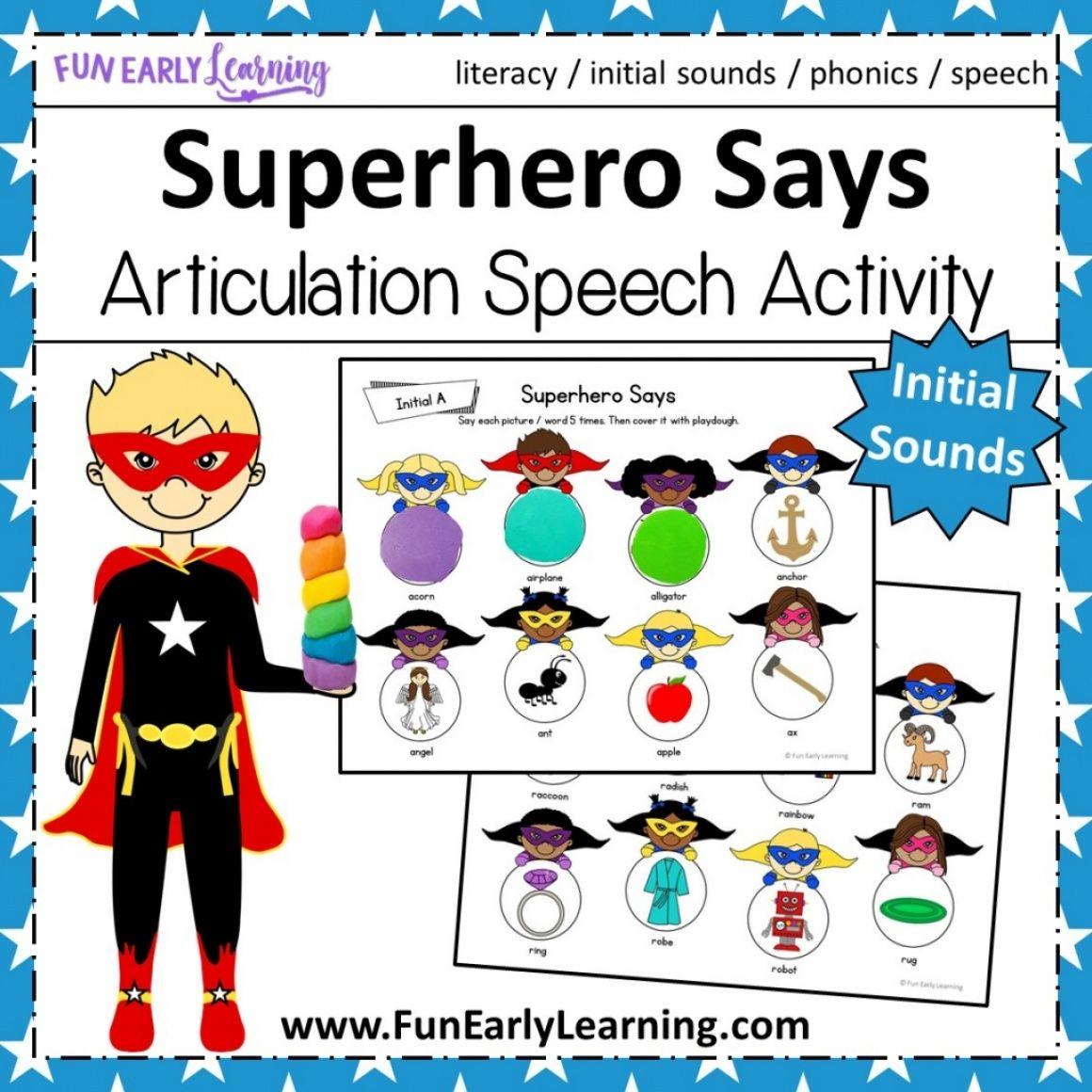 Superhero Says Articulation Practice