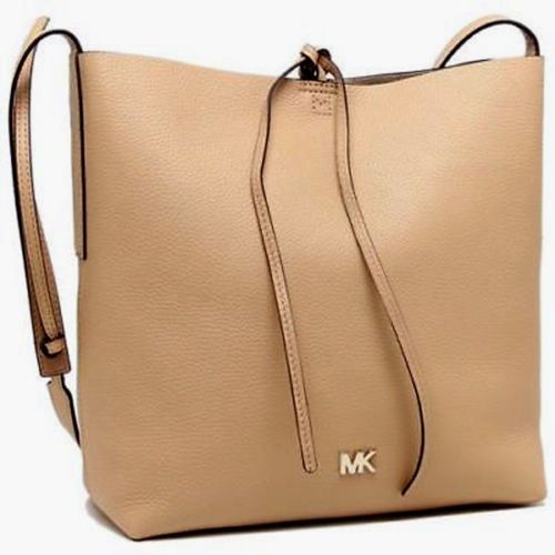 75d3e4702970 NWT Michael Kors Junie Large Pebbled Leather Messenger Butternut SEALED   228  fashion  clothing  shoes  accessories  womensbagshandbags ...