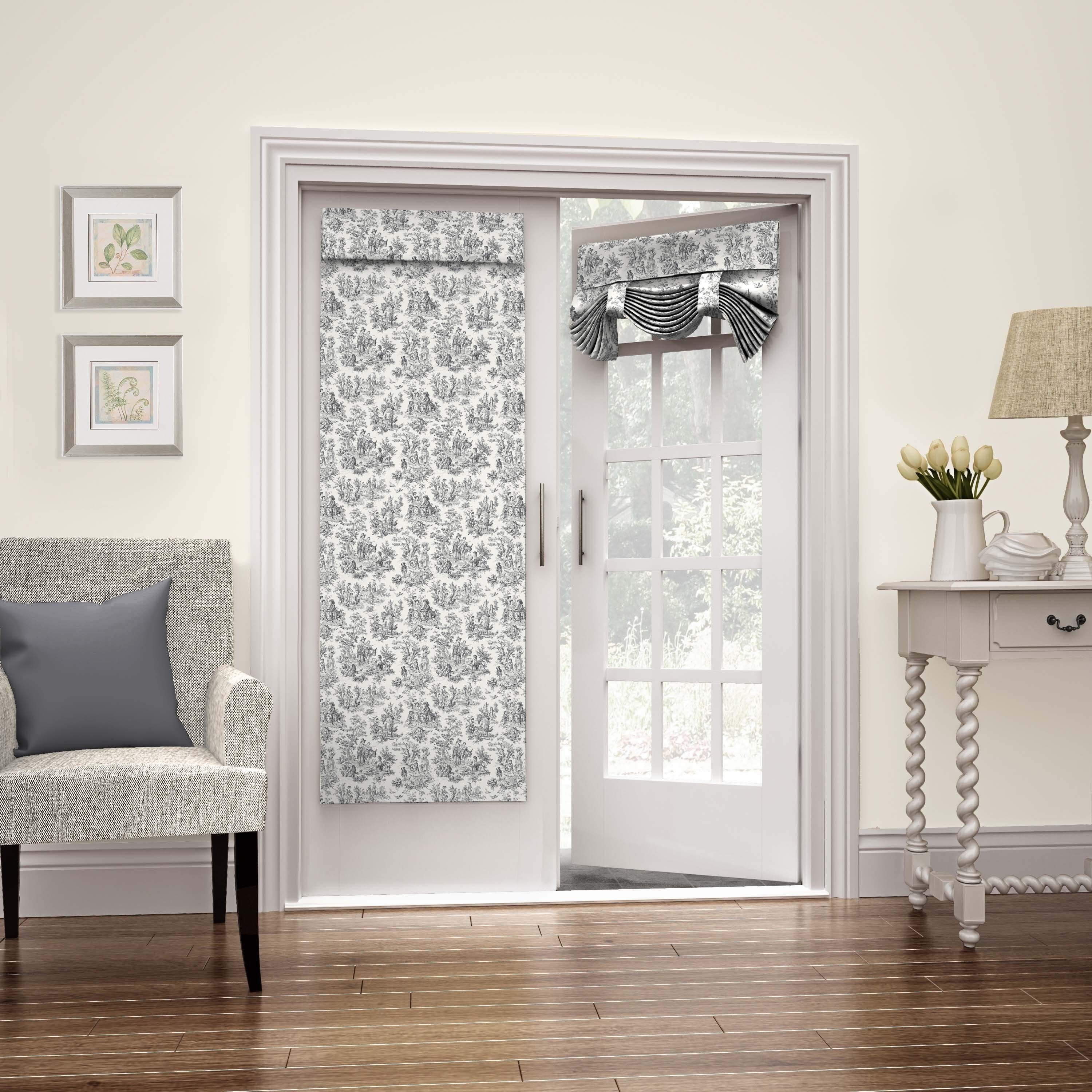 Waverly charmed life french door panel onyx multi cotton for