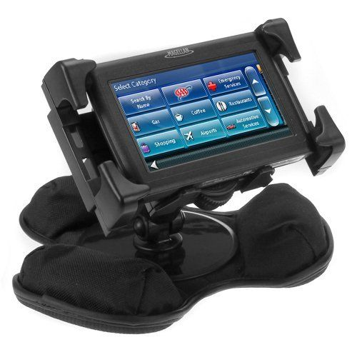Ikross Black Portable Universal Car Dashboard Mount Holder For Garmin N 252 Vi 1450lmt