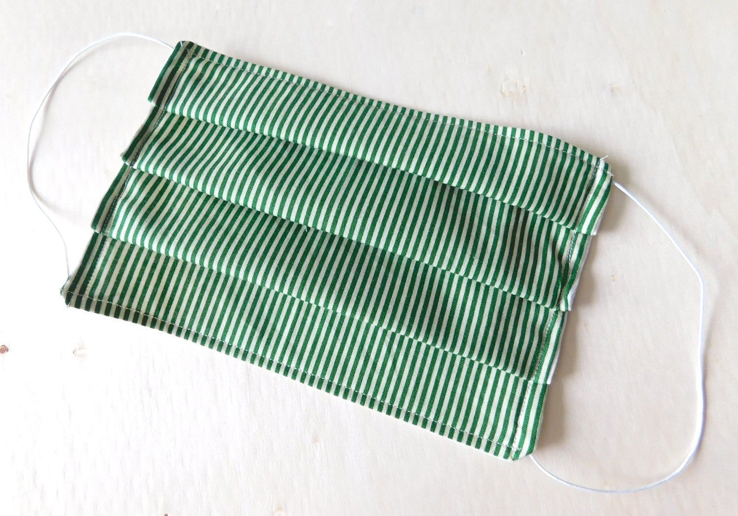 Green Strips Reusable Washable Face Mask with Filter