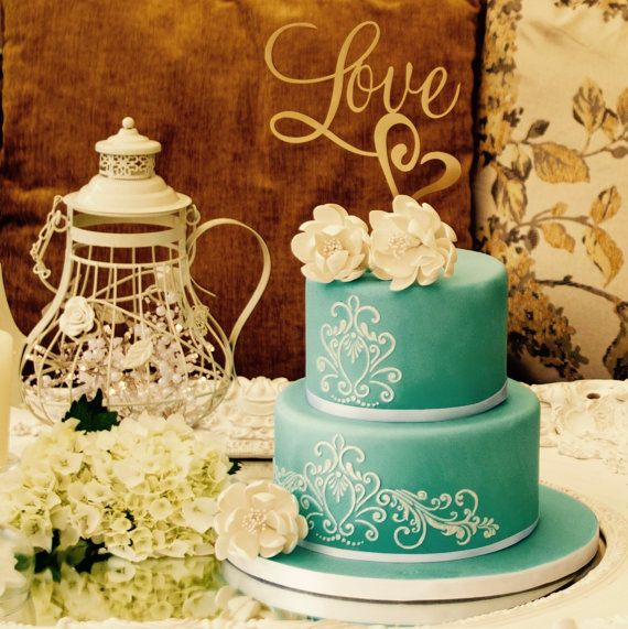 Romantic Love Wedding Cake Topper a perfect by yourperfectfinish