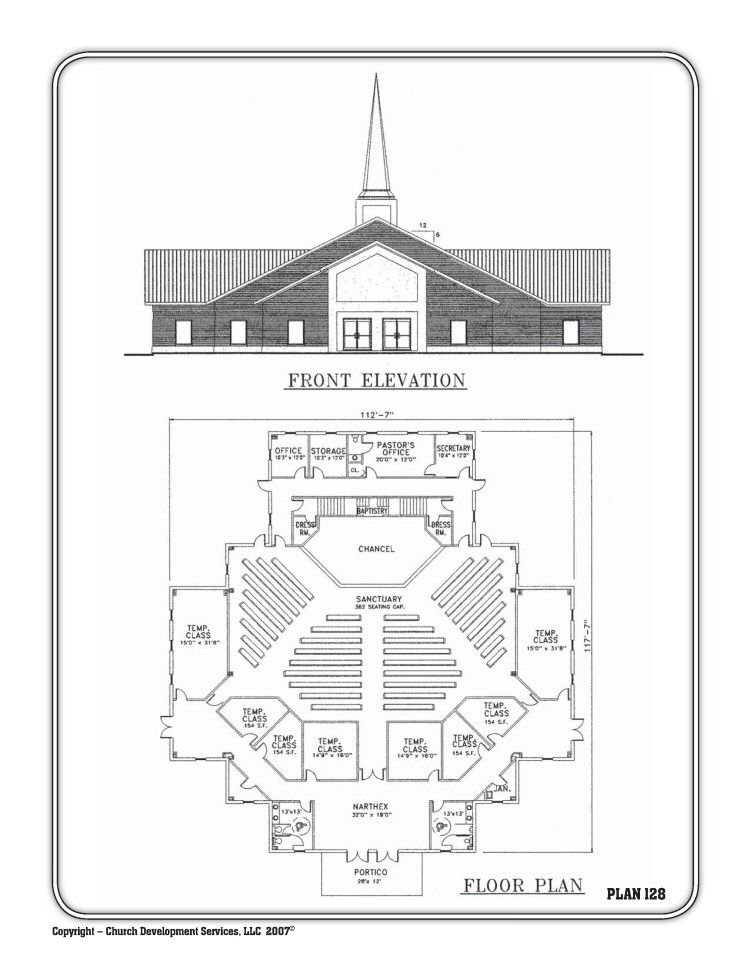 Church floor plans free designs free floor plans for Commercial building blueprints free