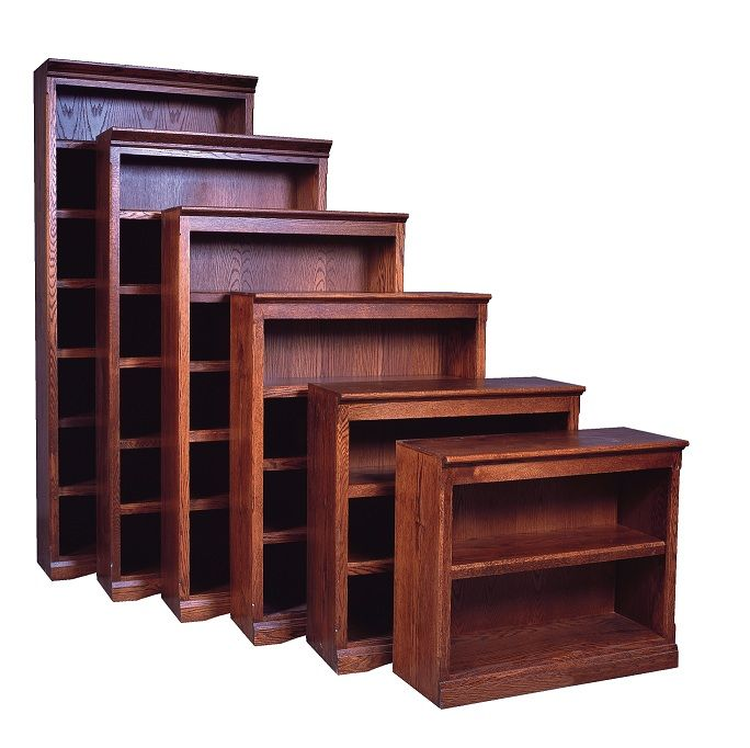 "FD Mission Oak Bookcases 36"" W, 13"" D in heights 30"" - 96"": Mission Oak Bookcases in Arizona, Oak Bookcase, Bookcases with Doors, Bookcases for Sale"