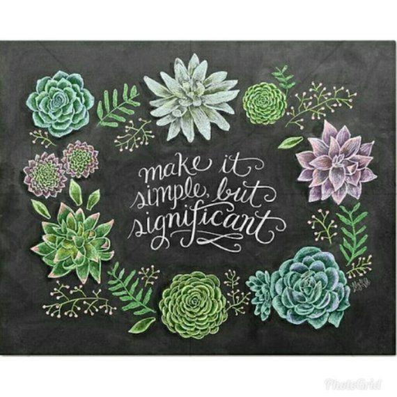 Flower Wall Decor Reversible Mosaic With Chalkboard: Diamond Painting Kit,Flowers,Garden,Chalk Drawing Full