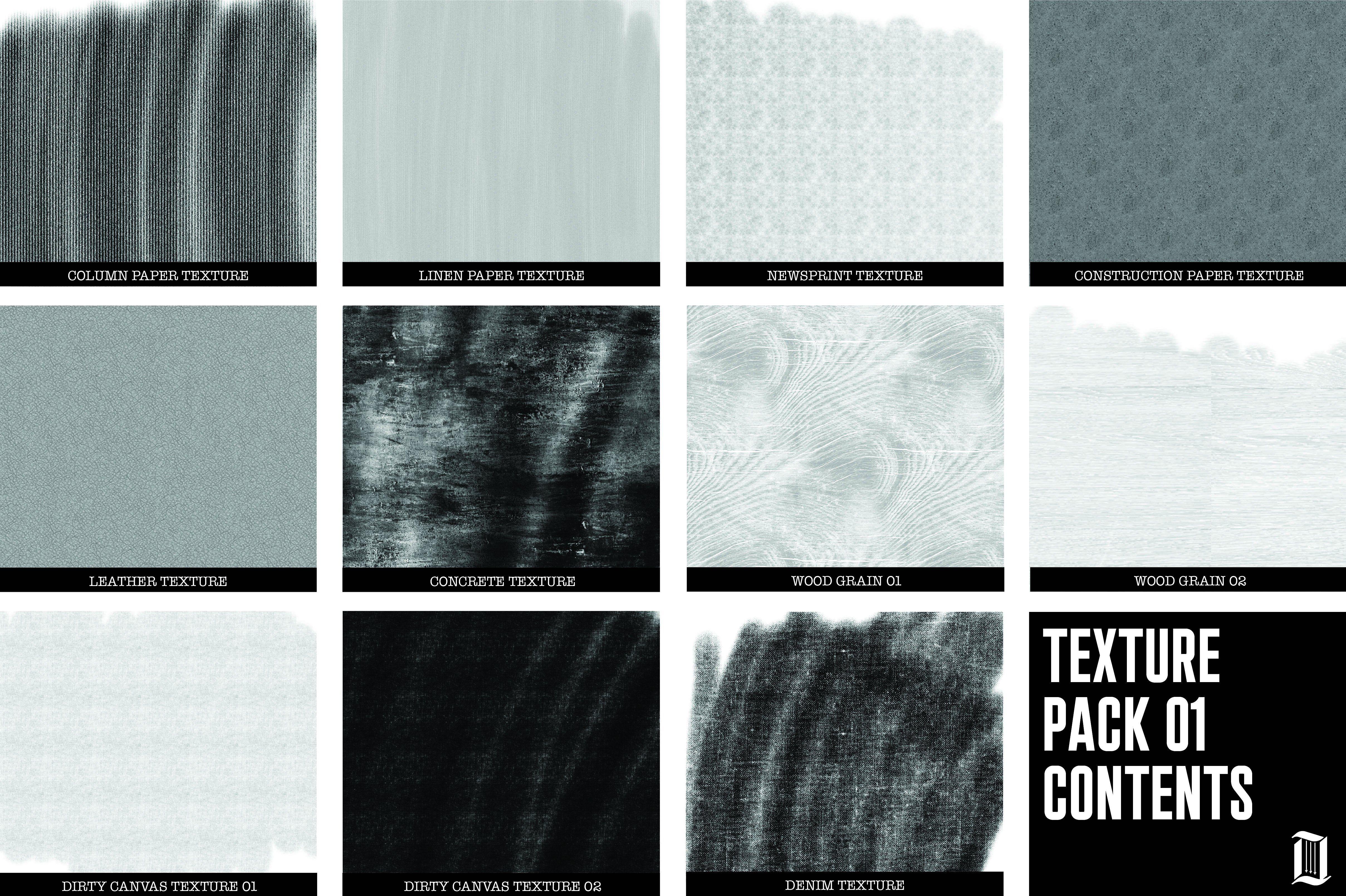 Procreate Texture Brush Pack 01 Canvas Texture Concrete Texture