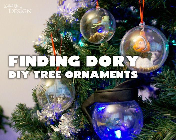 Finding Dory DIY Tree Ornaments - a cute Disney-themed Christmas tree  ornament craft idea. - Finding Dory DIY Tree Ornaments Holiday Creativity Pinterest