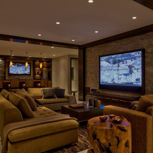 contemporary basement design ideas pictures remodel on incredible man cave basement decorating ideas id=56261