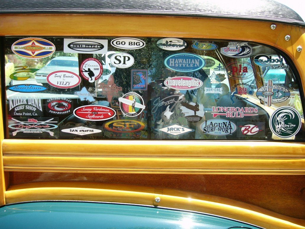 46 Ford Surf Stickers Woody Wagon Surf Stickers Window Decals [ 774 x 1032 Pixel ]