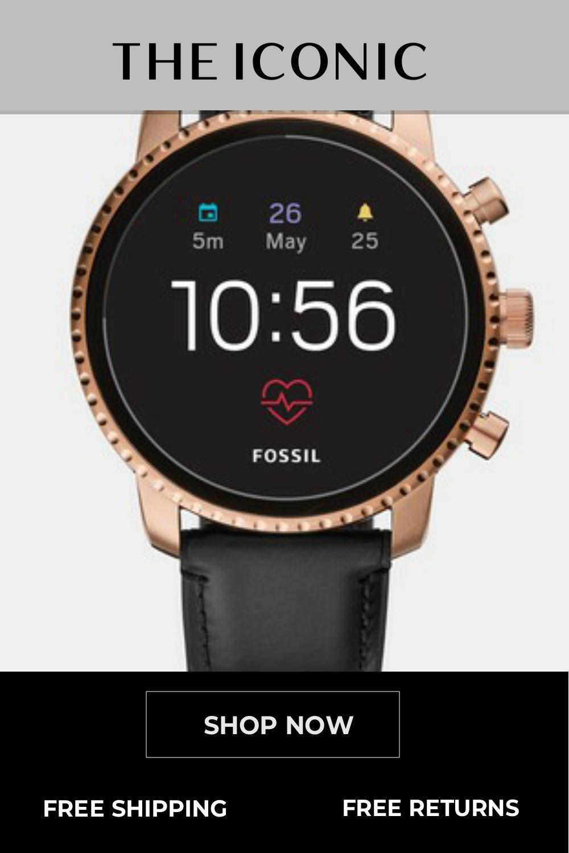 Q Explorist Hr Black Smartwatch   Smart watch. Online accessories. Black