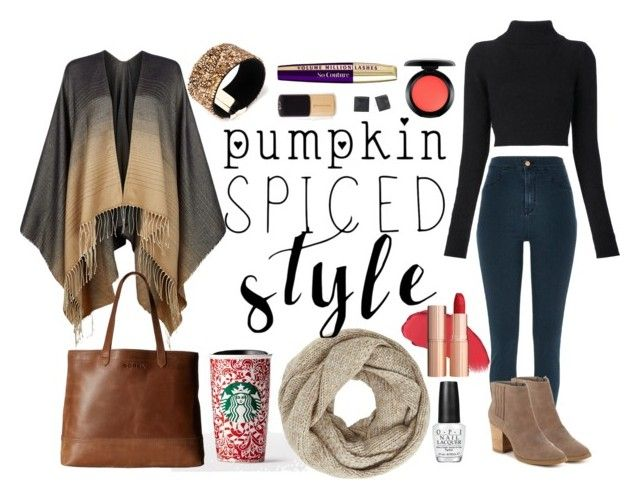 """Pumpkin Spice Style"" by tinselwear on Polyvore featuring Balmain, John Lewis, River Island, Hobbs, Madden Girl, Amrita Singh, Alexis Bittar, OPI, SOREL and MAC Cosmetics"
