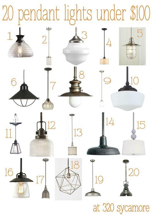 20 Great Pendant Lights Under 100 Kitchen Lighting 320