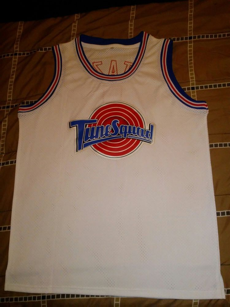 af22fada846 Space Jam Tune Squad Basketball Jersey White Stitched Jerseys sz. 2xl  Taz...... #fashion #clothing #shoes #accessories #mensclothing #activewear  (ebay link)