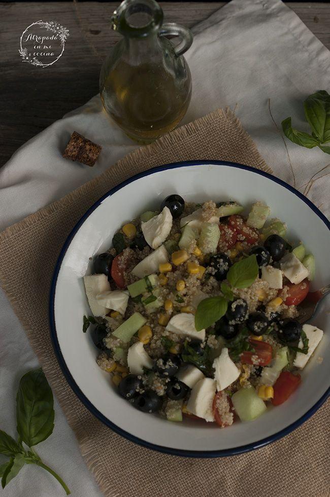 Pin de lidia de la o en atrapada en mi cocina ensalada for Como se cocina la quinoa para ensalada