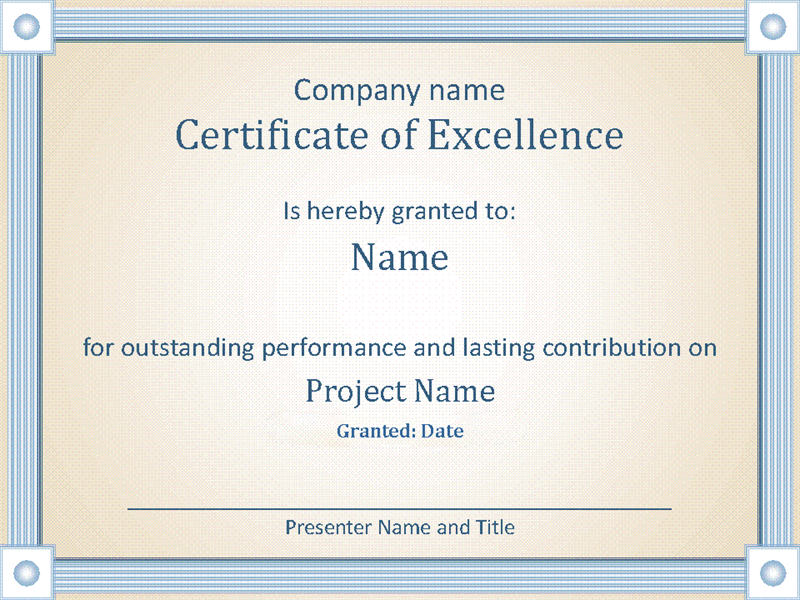 Reward an employees outstanding performance with this accessible reward an employees outstanding performance with this accessible award certificate template yadclub Choice Image