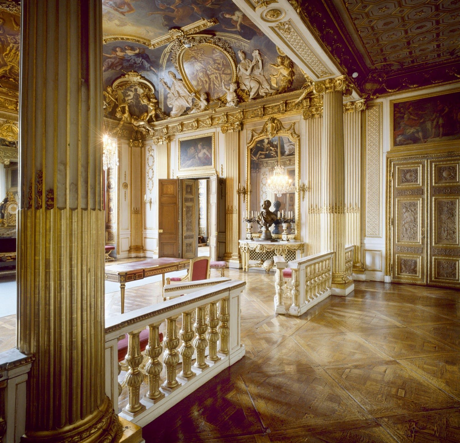 Antik Ludwigsburg Stockholm_the King Gustav Iii's Bedroom In The Royal