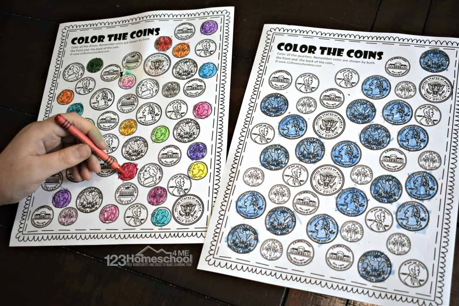 Match Coin Worksheet Dor Kindergarten In